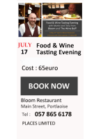 Five Courses & Wine Experience @ Bloom 19th July