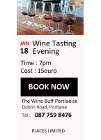Wine Tasting 18th Jan Portlaoise